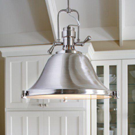 Luminaire suspendu de style industriel en métal au fini argent