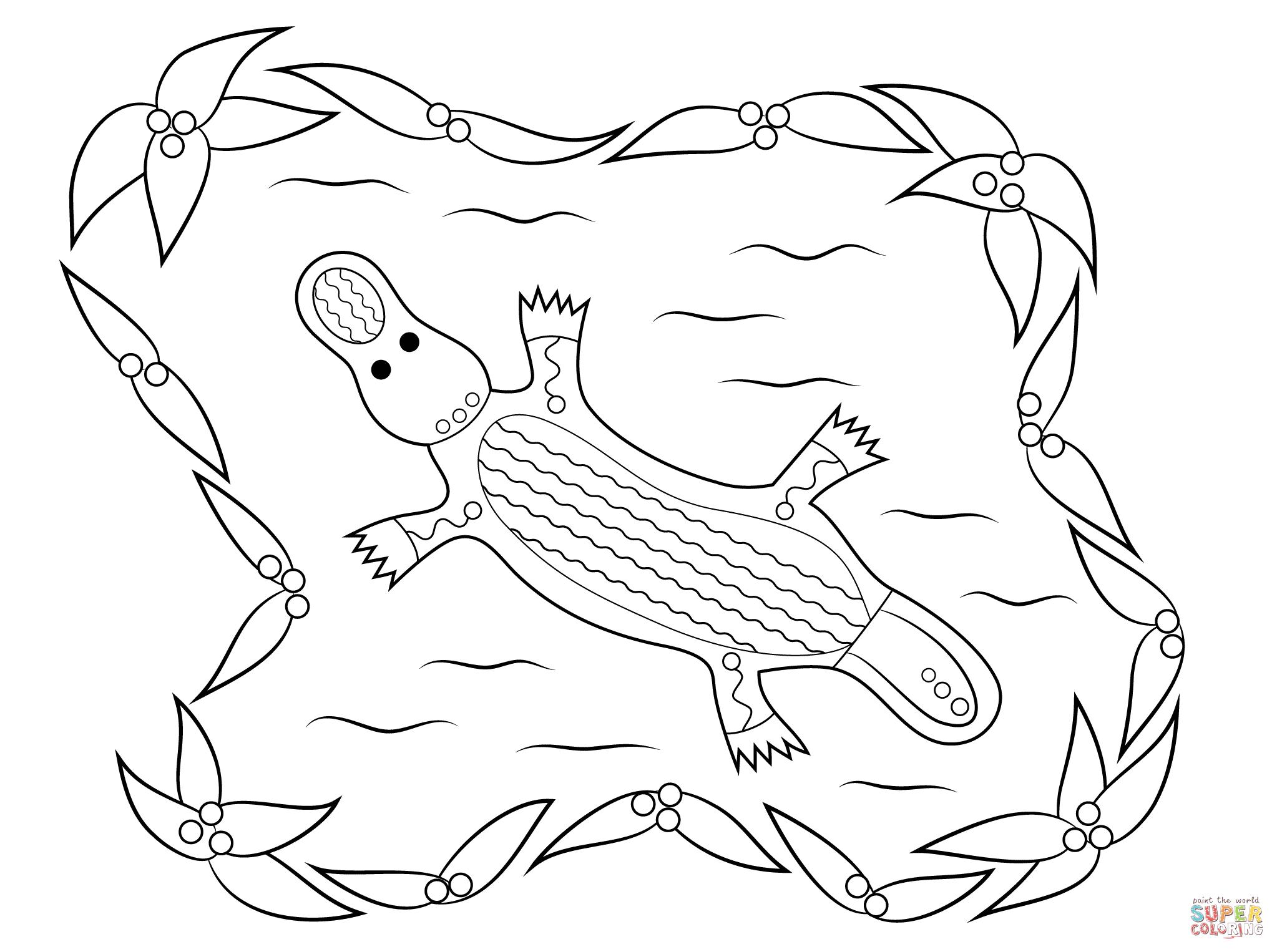 Platypus Aboriginal Art Aboriginal Dot Painting Aboriginal Art Aboriginal Art Animals