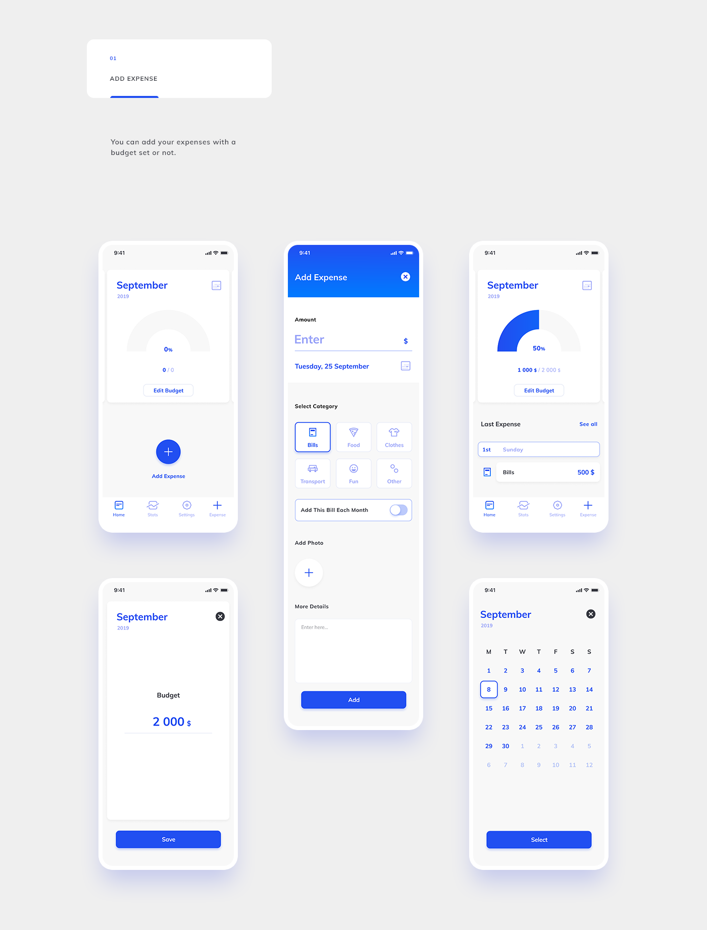 Xave Expense Tracker on Behance Expense tracker