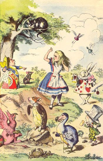 Alice au pays des merveilles illustration de john tenniel art illustrations iv - Tatouage alice au pays des merveilles ...