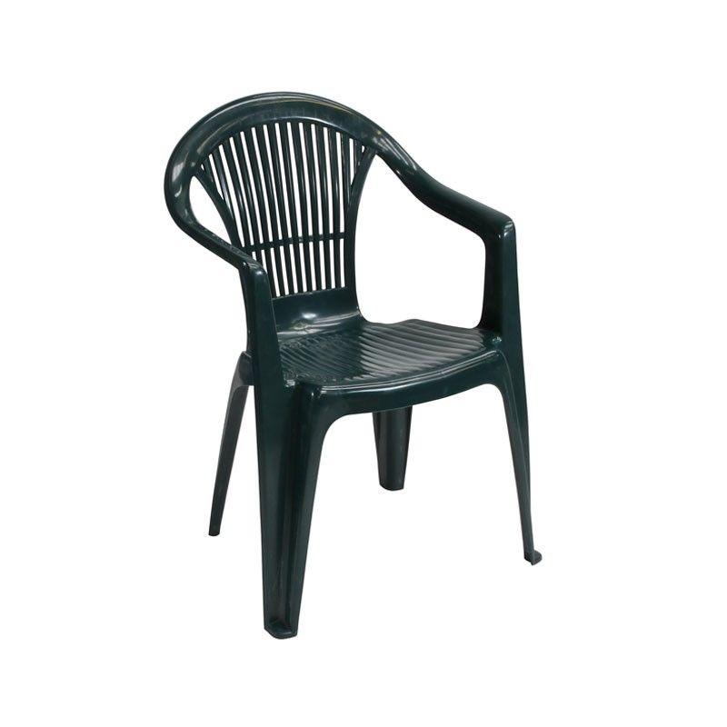 Plastic Patio Chair  A popular green plastic garden