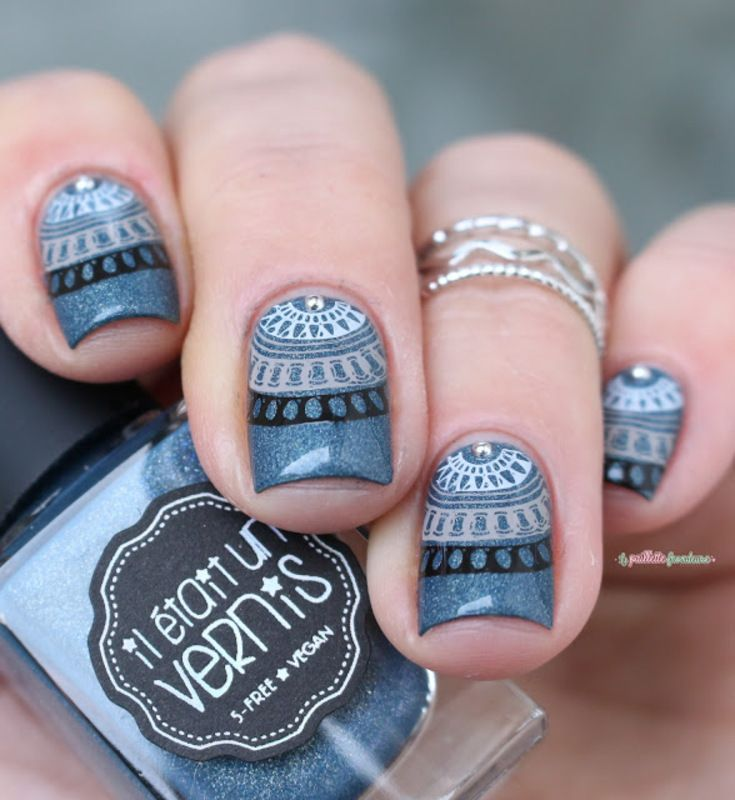 mandala nail art by nathalie lapaillettefrondeuse | Crucial Cuticles ...