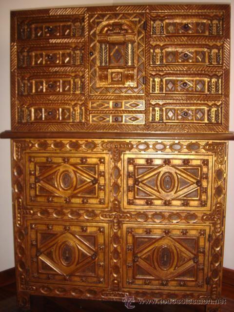 Exceptional Madera Nogal Dorada / Muebles Antiguos En Todocoleccion
