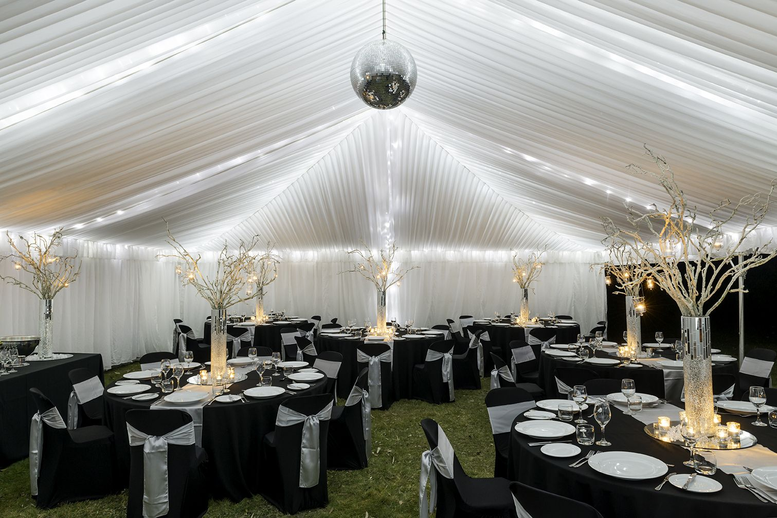 Black silver theme wedding in queenstown hirepool weddings black silver theme wedding in queenstown junglespirit Images