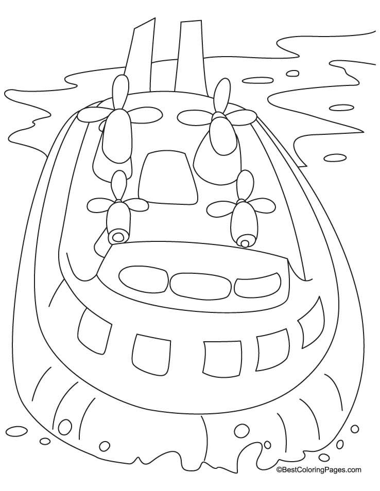 Hovercraft Coloring Pages Download Free Hovercraft Coloring