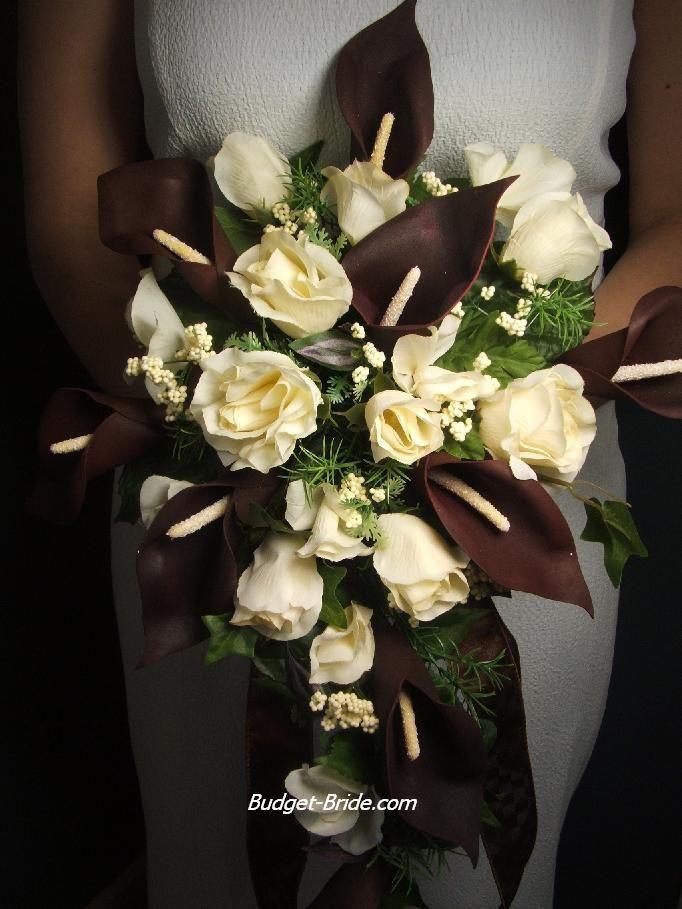 Brown Bridal Bouquets Brown Wedding Flowers Chocolate Wedding