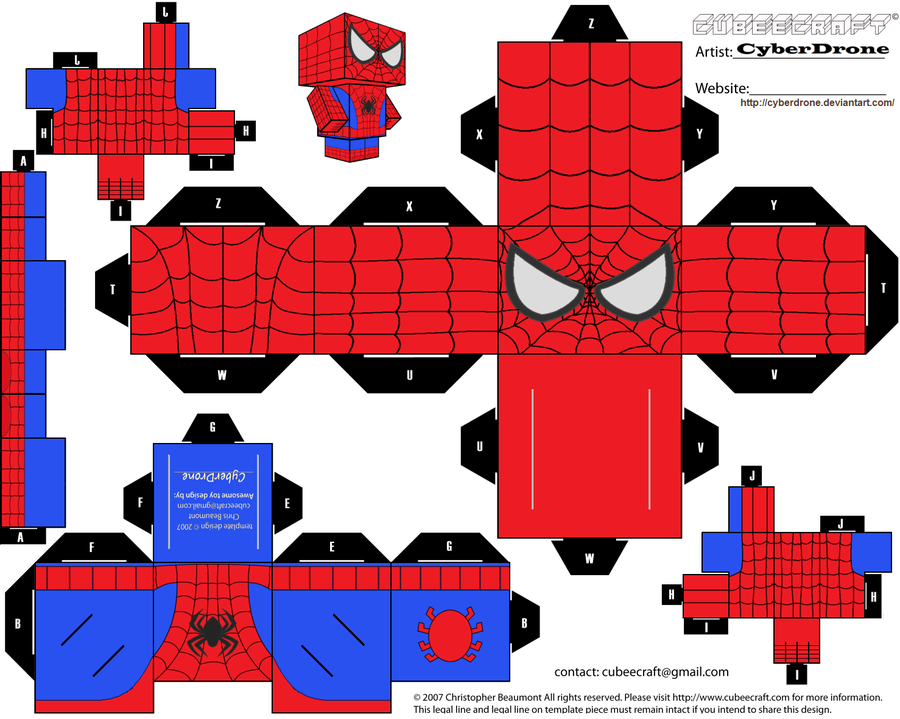 Cubee   Spider Man By CyberDrone.deviantart.com On @deviantART