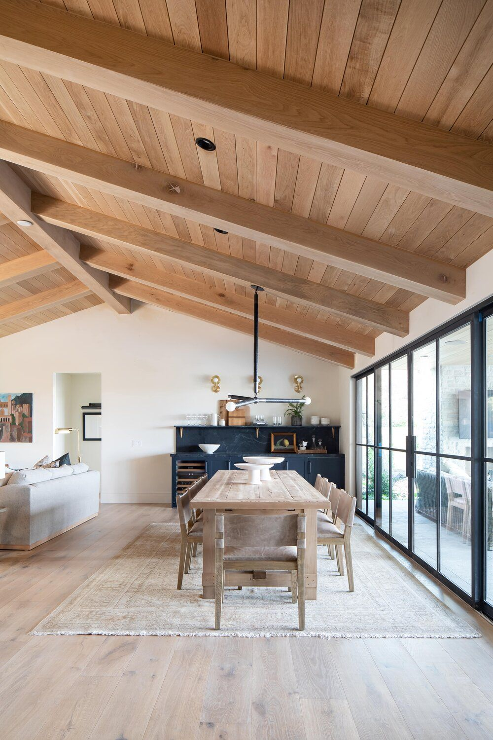 Photo of The Crestview House: Entry, Dining, & Living Space – Studio McGee