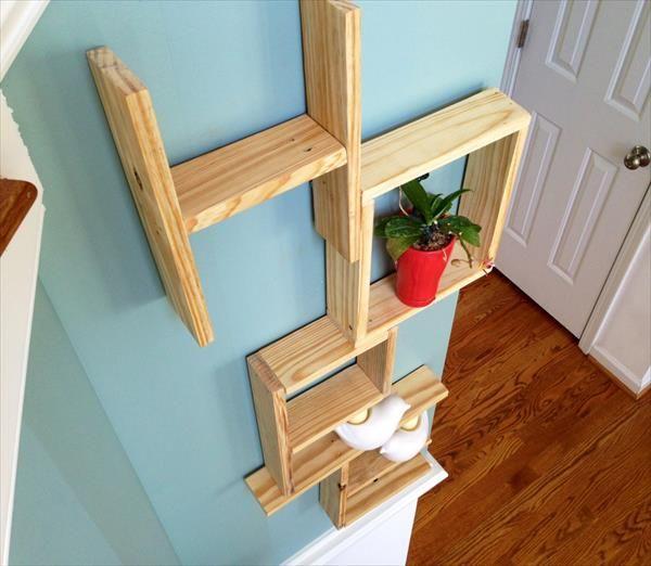 DIY Pallet Wall Art/ Wooden Shelving