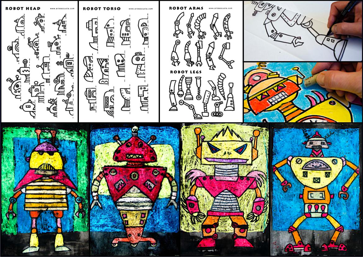 Symmetrical Robot 3 Worksheets