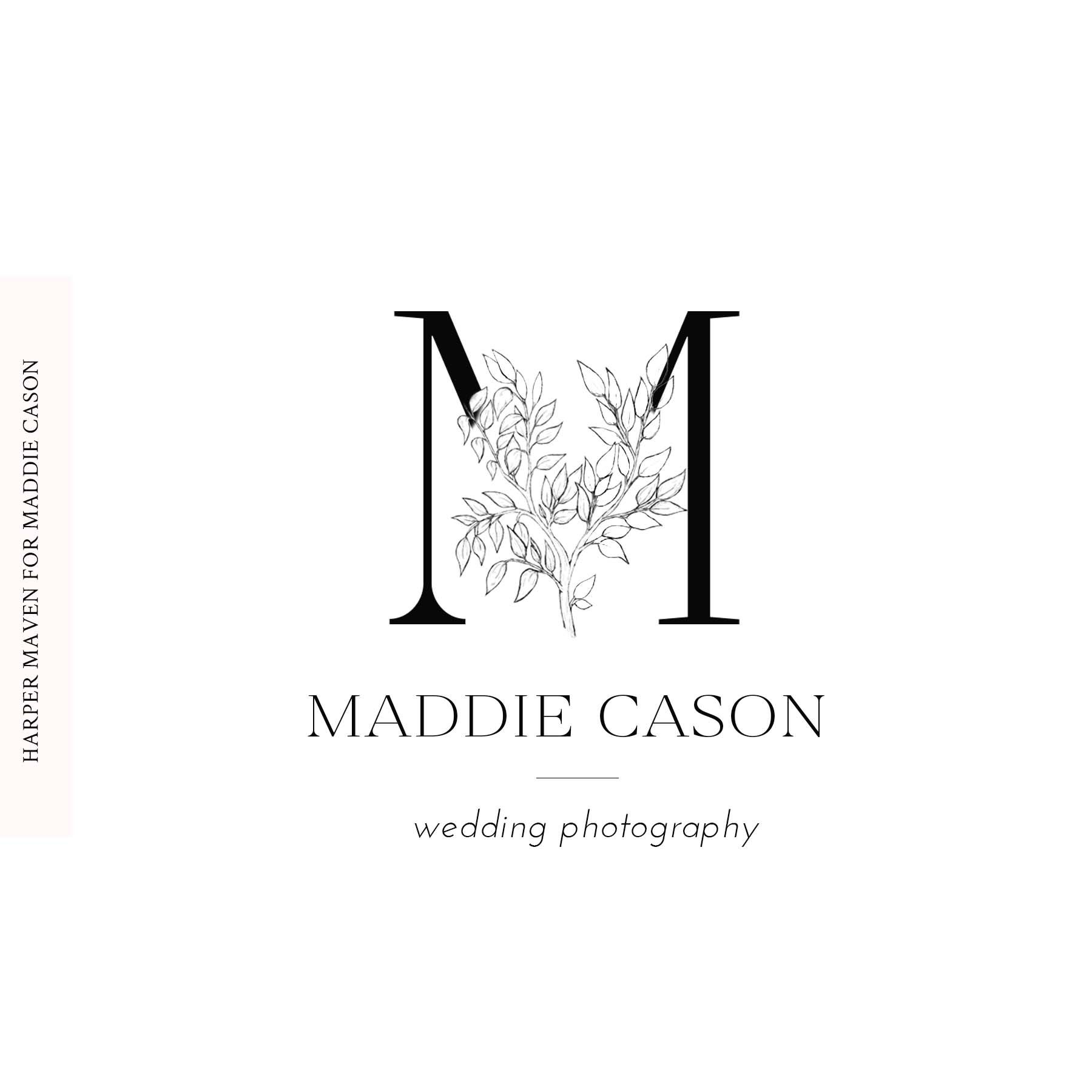 Maddie Cason Photography Logo By Harper Maven Design Www