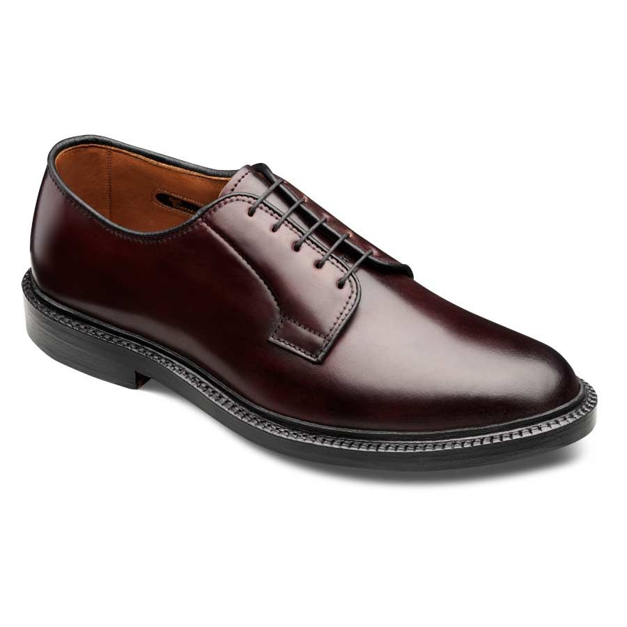 Cordovan Leeds - Plain-toe Lace-up Oxford Men's Dress Shoes by Allen Edmonds Burgundy Shell Cordovan