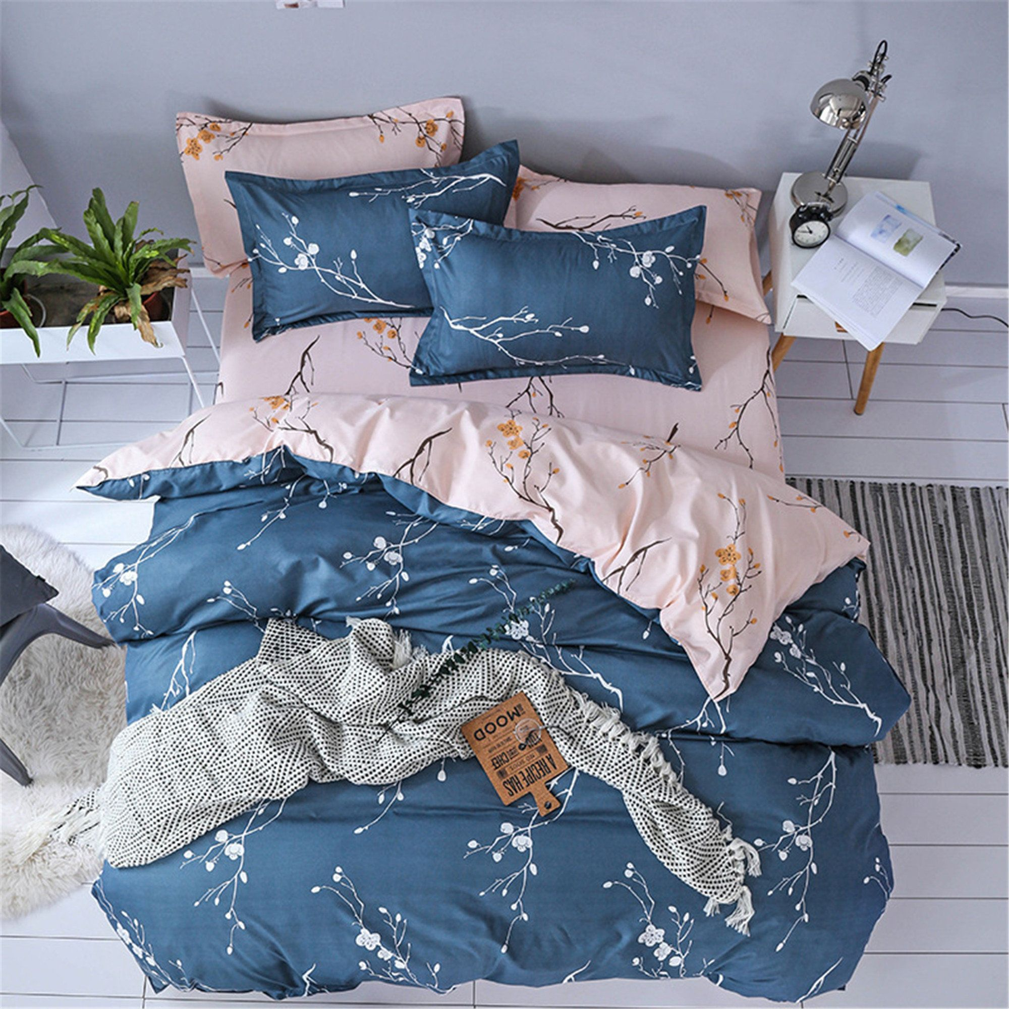 High Quality Duvet Cover Sets Super Soft Blue Microfiber Etsy Duvet Bedding Full Bedding Sets Bedding Sets