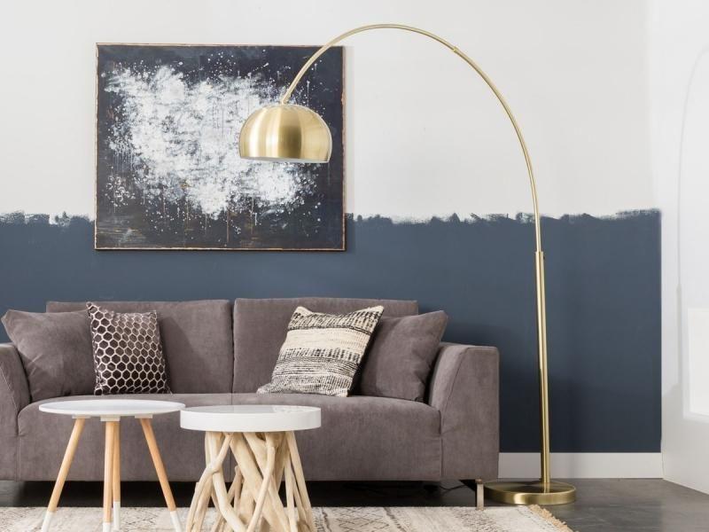 bogenlampe - stehlampe - metall messing - zuiver   lampen, Hause deko