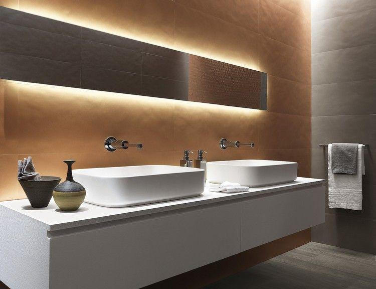 Große Fliesen für die Wandgestaltung im Bad | design | Pinterest