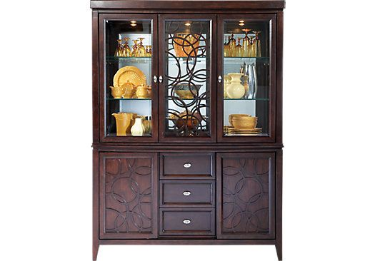 Shop For A Cindy Crawford Home Highland Park 2 Pc China Cabinet At