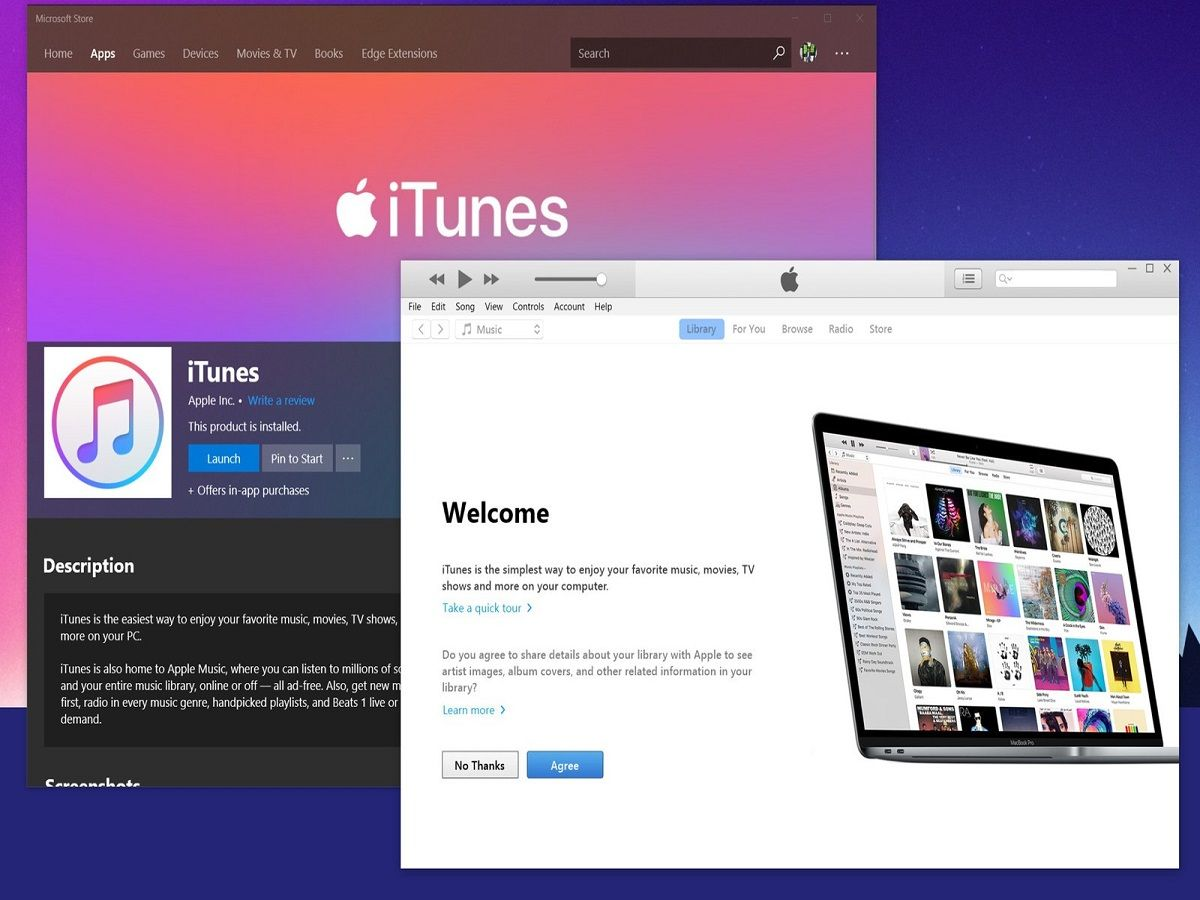 iTunes for Windows available for download from Microsoft