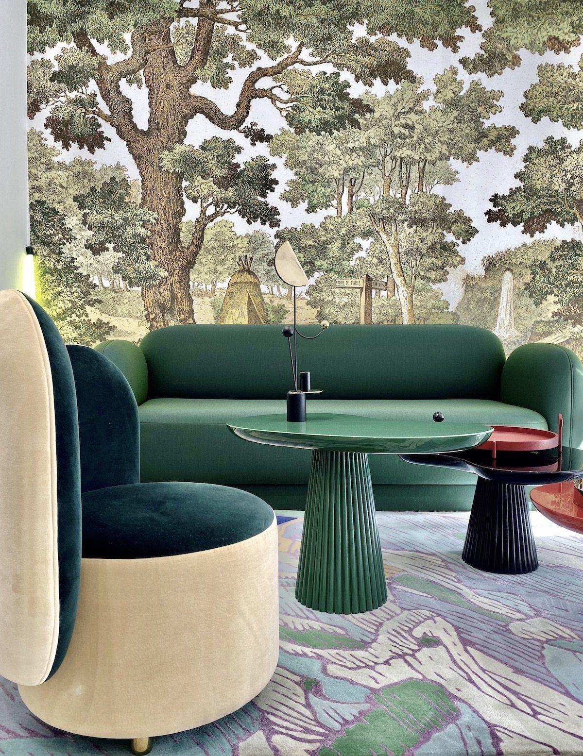 Paris Design Week 2020 Parcours Francais Clem Around The Corner En 2020 Canape Rond Meuble Maison Table Teck