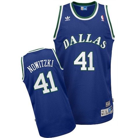 3f8a7e25b59 Dirk Nowitzki Dallas Mavericks Adidas Retro Blue Swingman Jersey ...