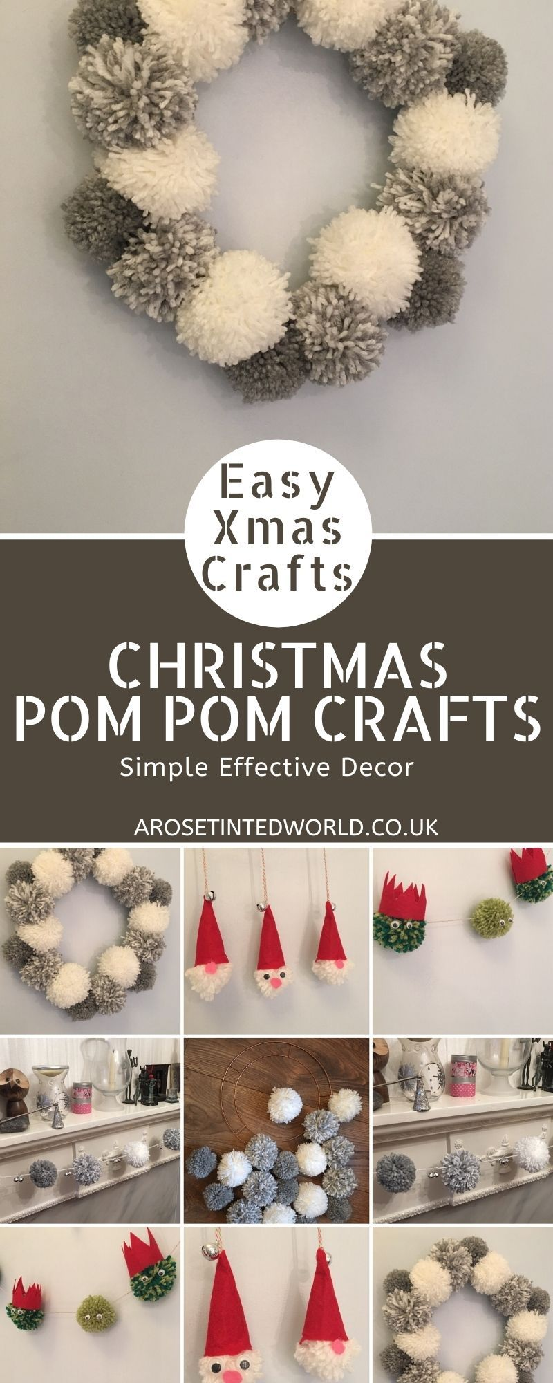 Christmas Pom-Pom Crafts - make these pretty and simple Christmas decorations -   18 xmas decorations to make kids ideas