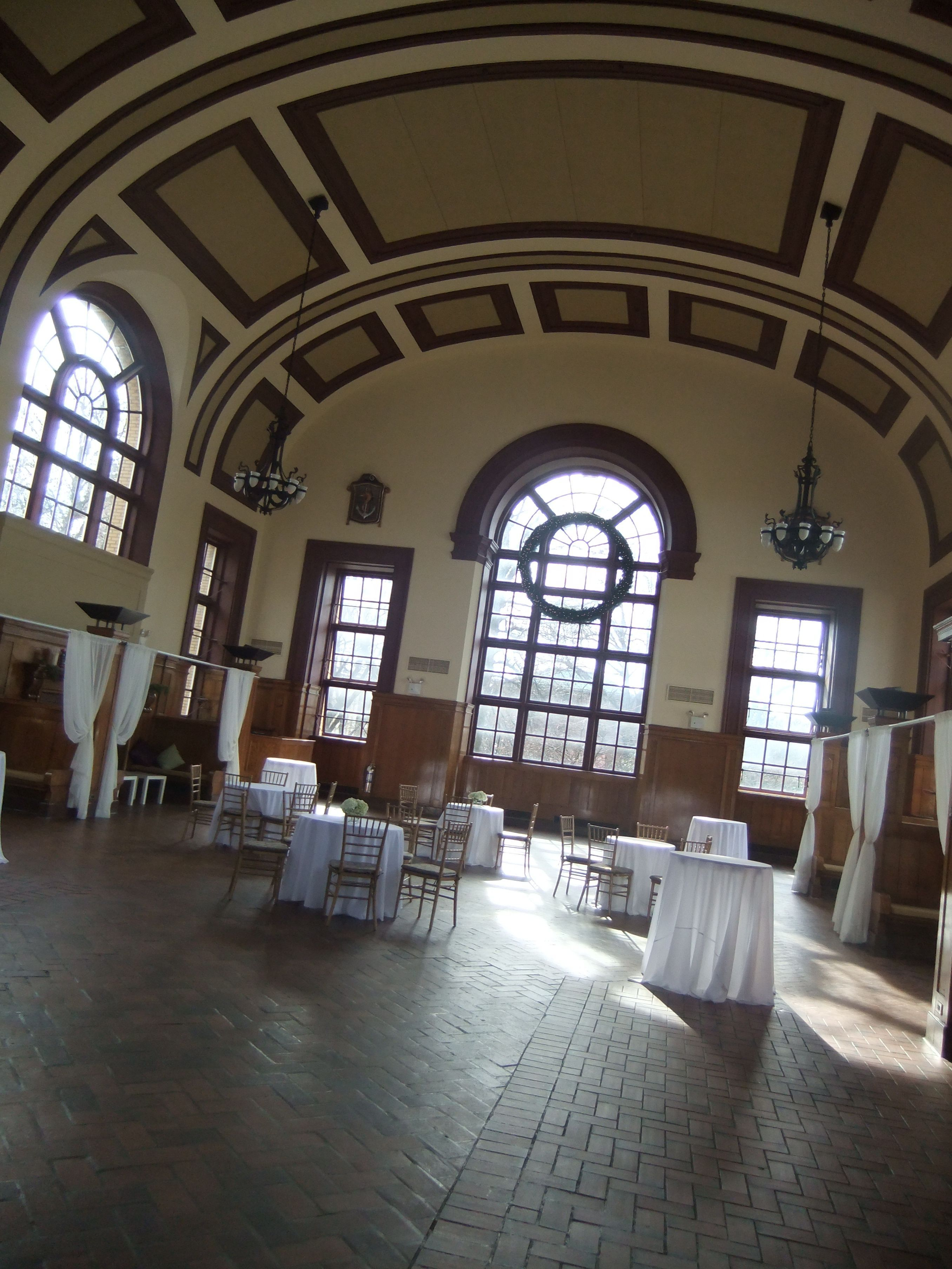 My grand venue- the Great Hall at the Snug Harbor Cultural Center ...