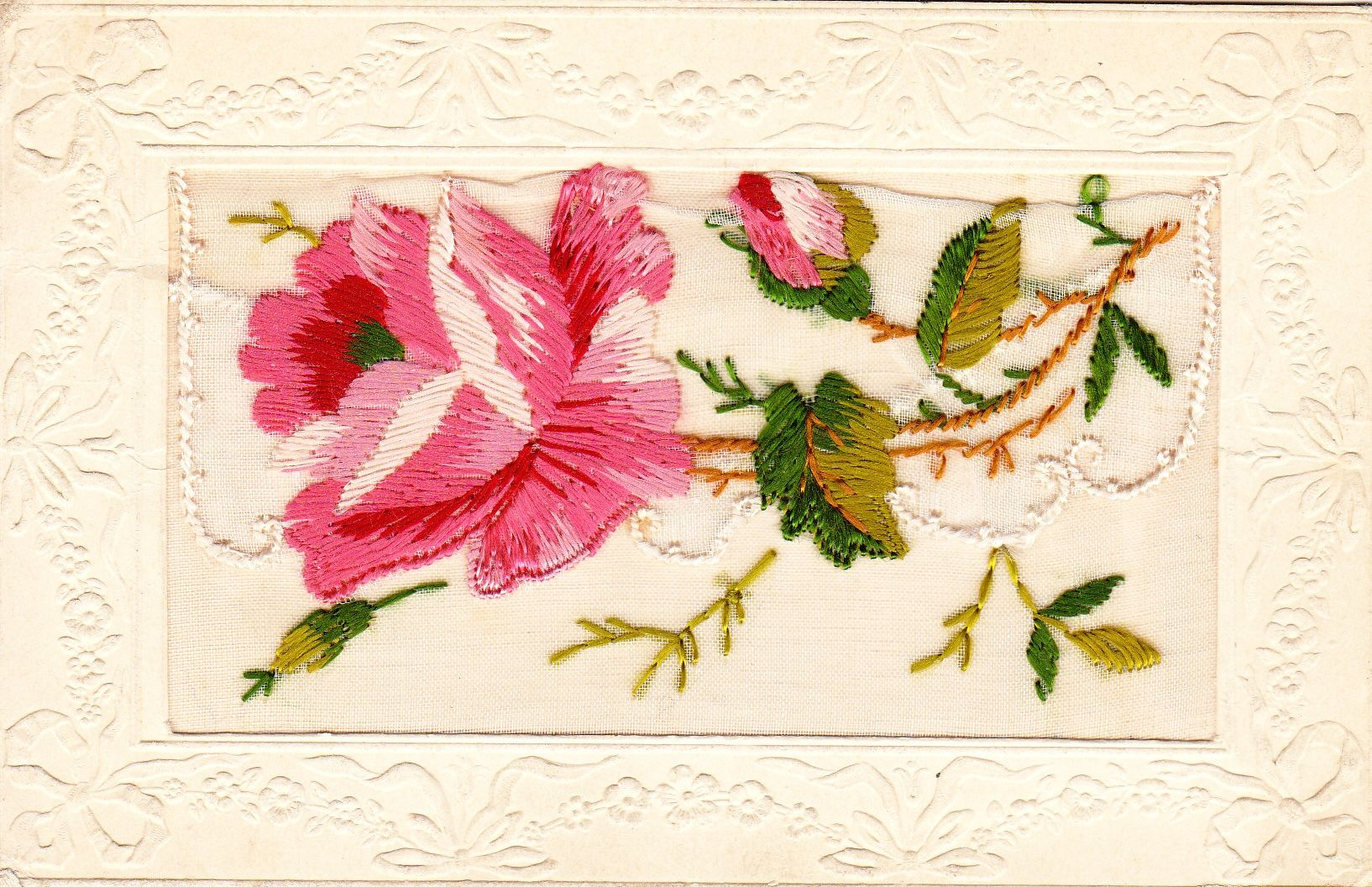 Another ww1 embroidered card the embroidery lifts up and there another ww1 embroidered card the embroidery lifts up and there are little message cards kristyandbryce Image collections