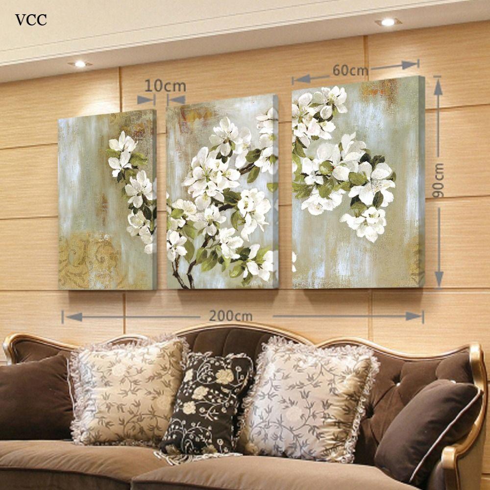 VCC 3 Unidades Apple Blossom Imagen Del Arte de la Lona, Pinturas ...