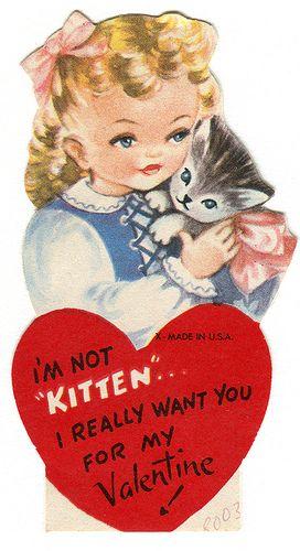 vintage valentine kitten | Flickr - Photo Sharing!