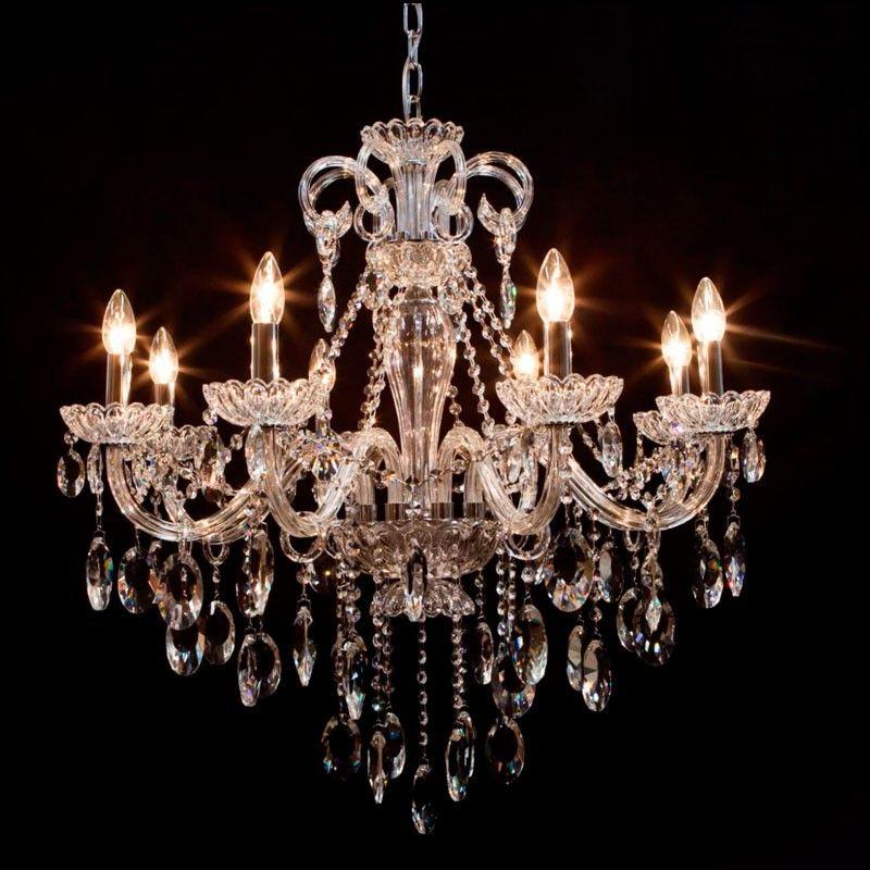 lustre cristal maria teresa estilo classico cristal transparente p 8 l mpadas e14 l0182 c. Black Bedroom Furniture Sets. Home Design Ideas