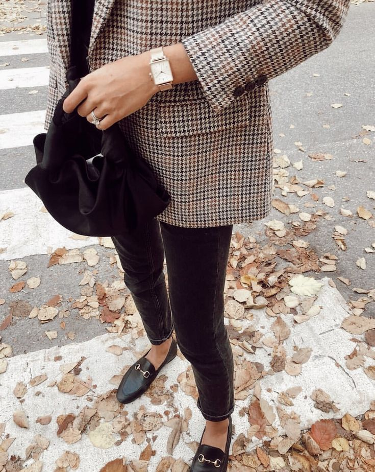 Plaid & Gucci Loafers