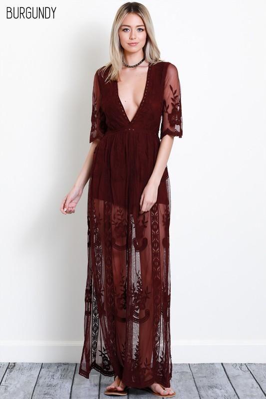 b7af65f3d5 On My Mind Lace Maxi Dress in 2019 | For my closet ☺ | Lace maxi ...