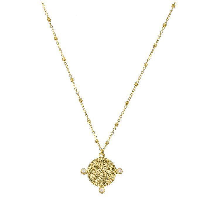 Samantha Gold Coin Necklace
