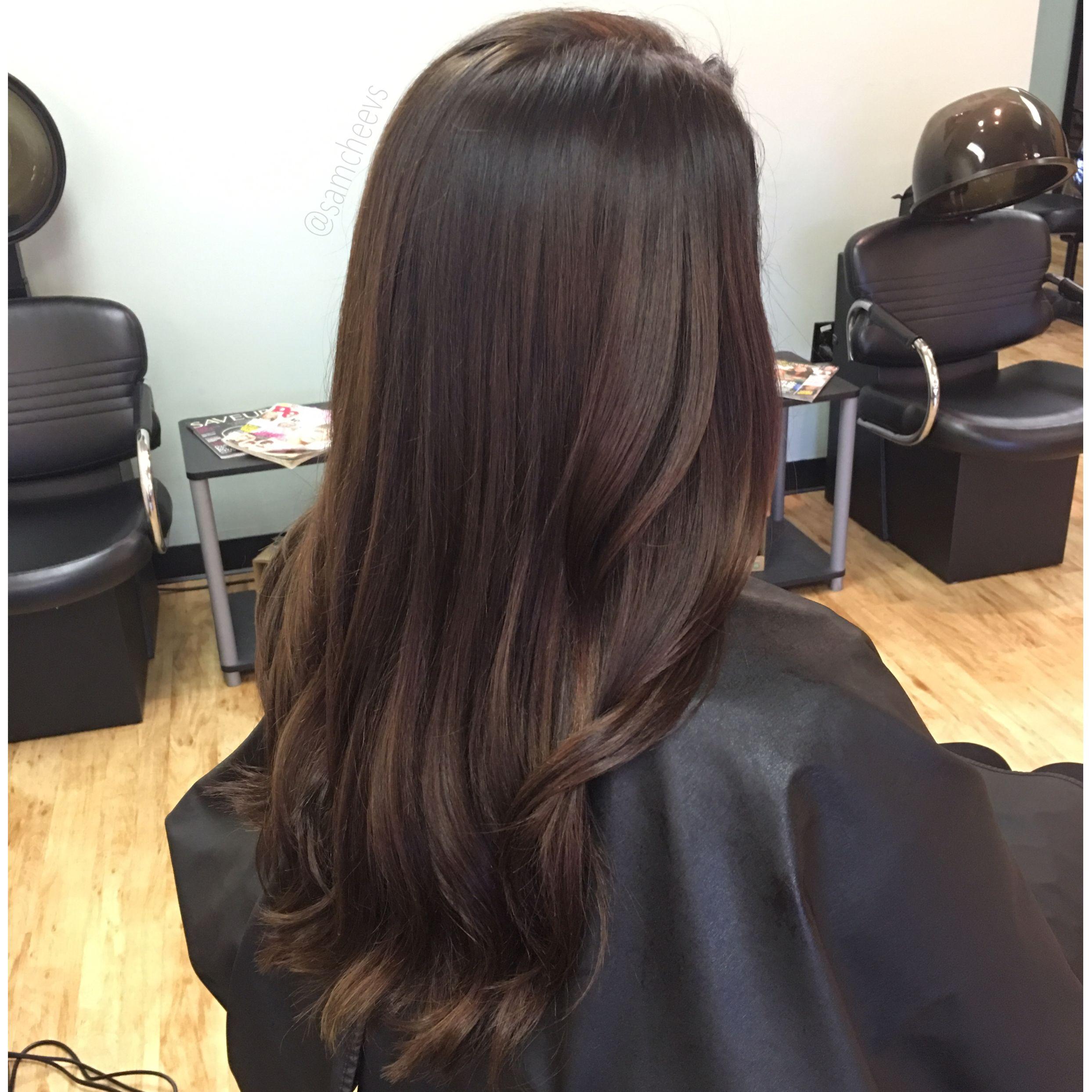Caramel Highlights For Dark Hair Espresso Brown