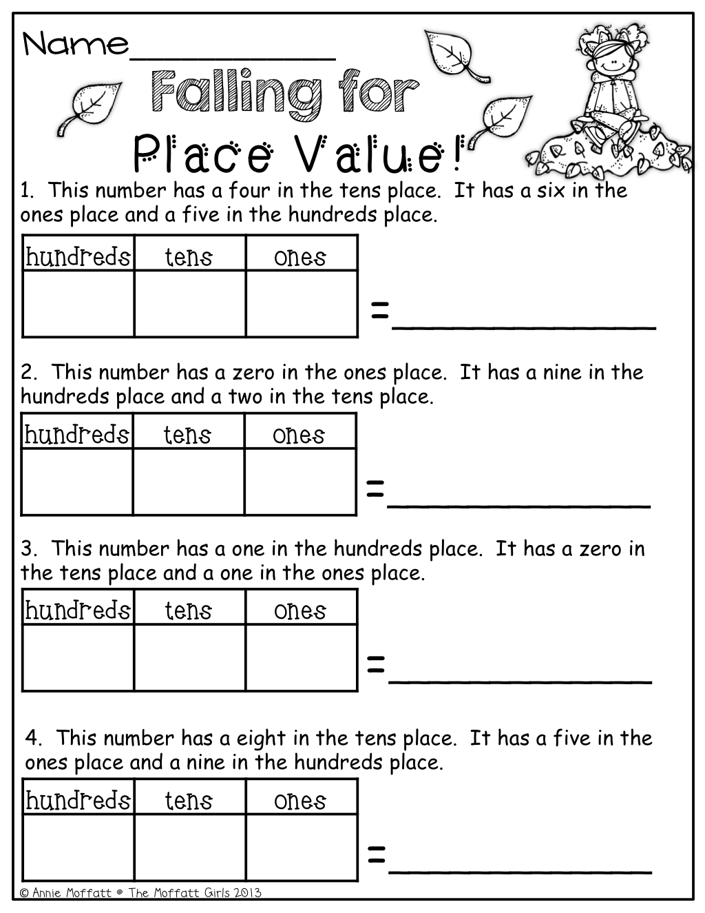 Grade 3 Math Place Value Worksheet