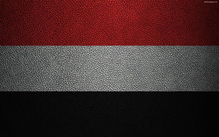 Download Wallpapers Flag Of Yemen 4k Leather Texture Yemeni Flag Asia World Flags Yemen Besthqwallpapers Com Yemen Flag Flag Yemeni Flag
