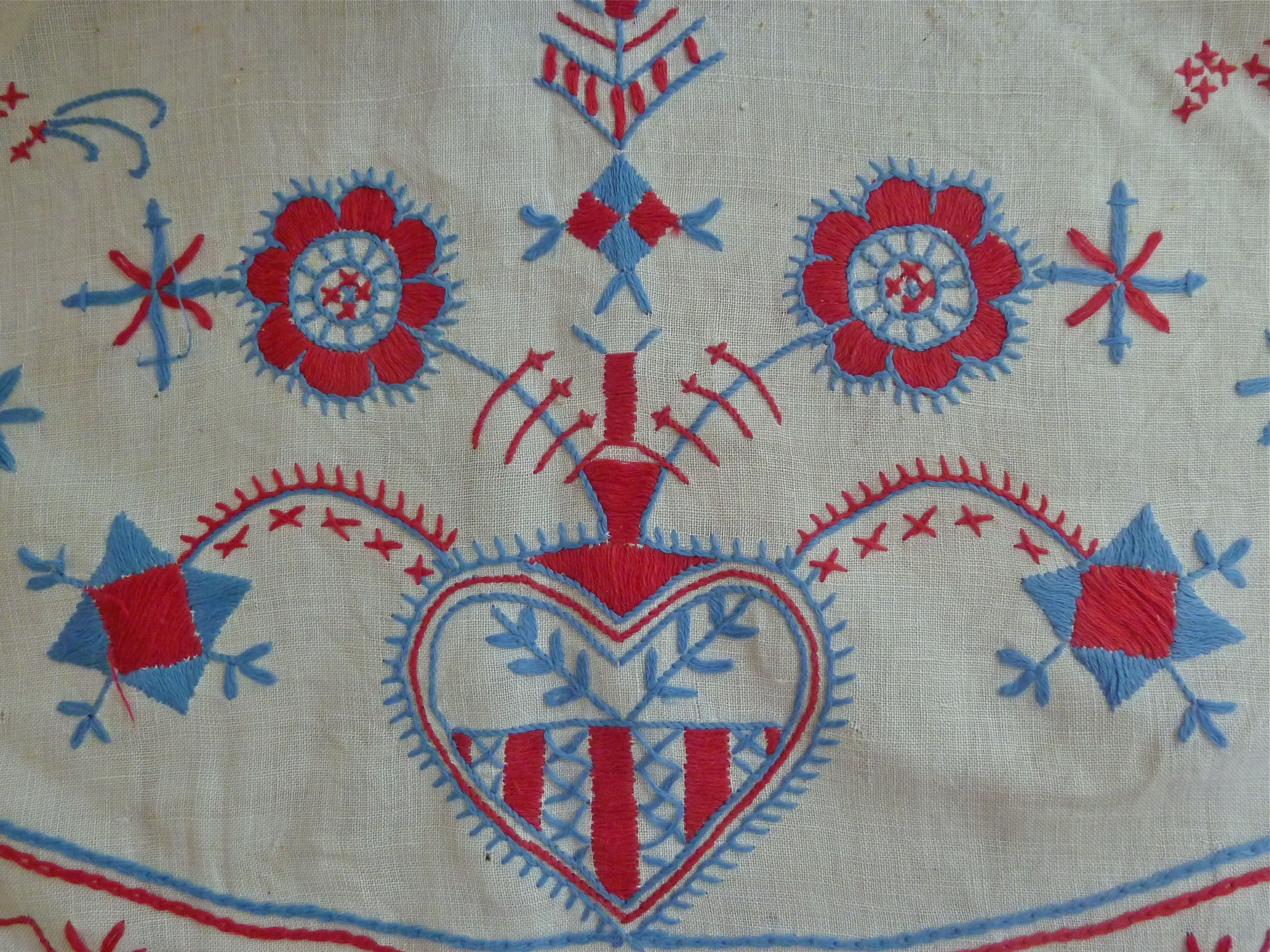 Swedish Tablecloth Scandinavian Embroidery Swedish Embroidery Scandinavian Folk Art