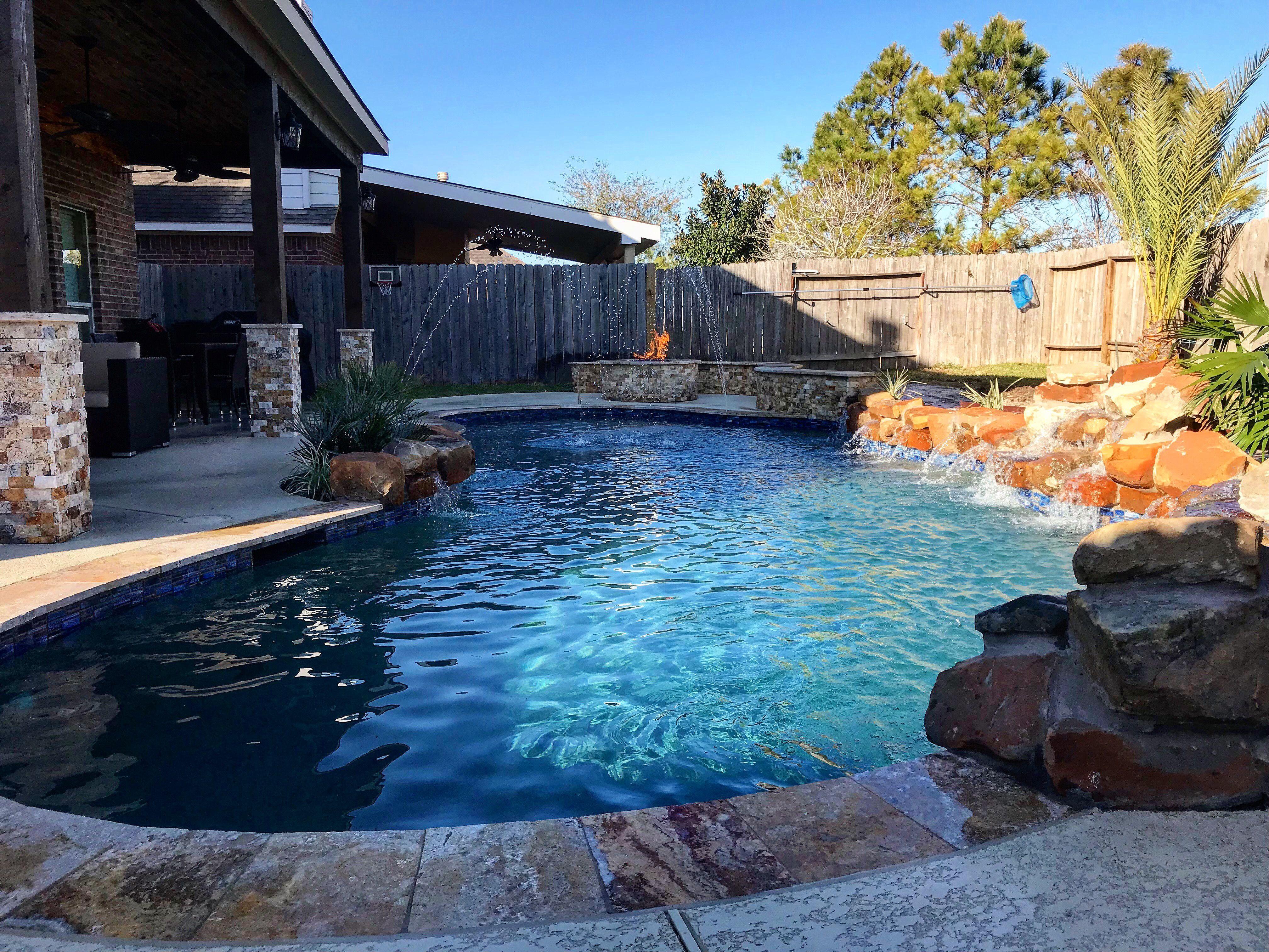 Premier Pools And Spas Houston Texas Custom Pool With Seating