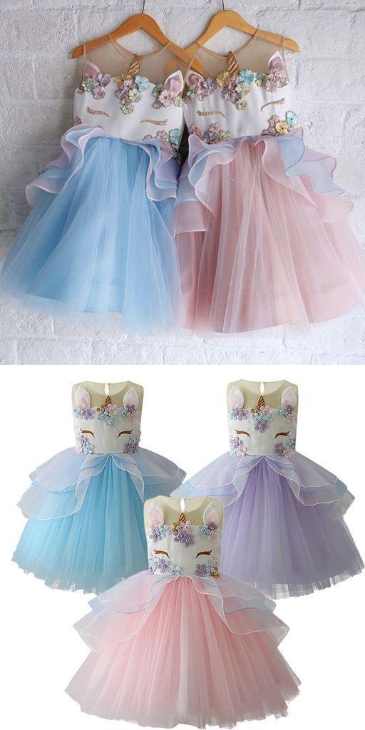 Einhorn Mädchen Kleid für Geburtstagsfeier Einhorn Feiern ...