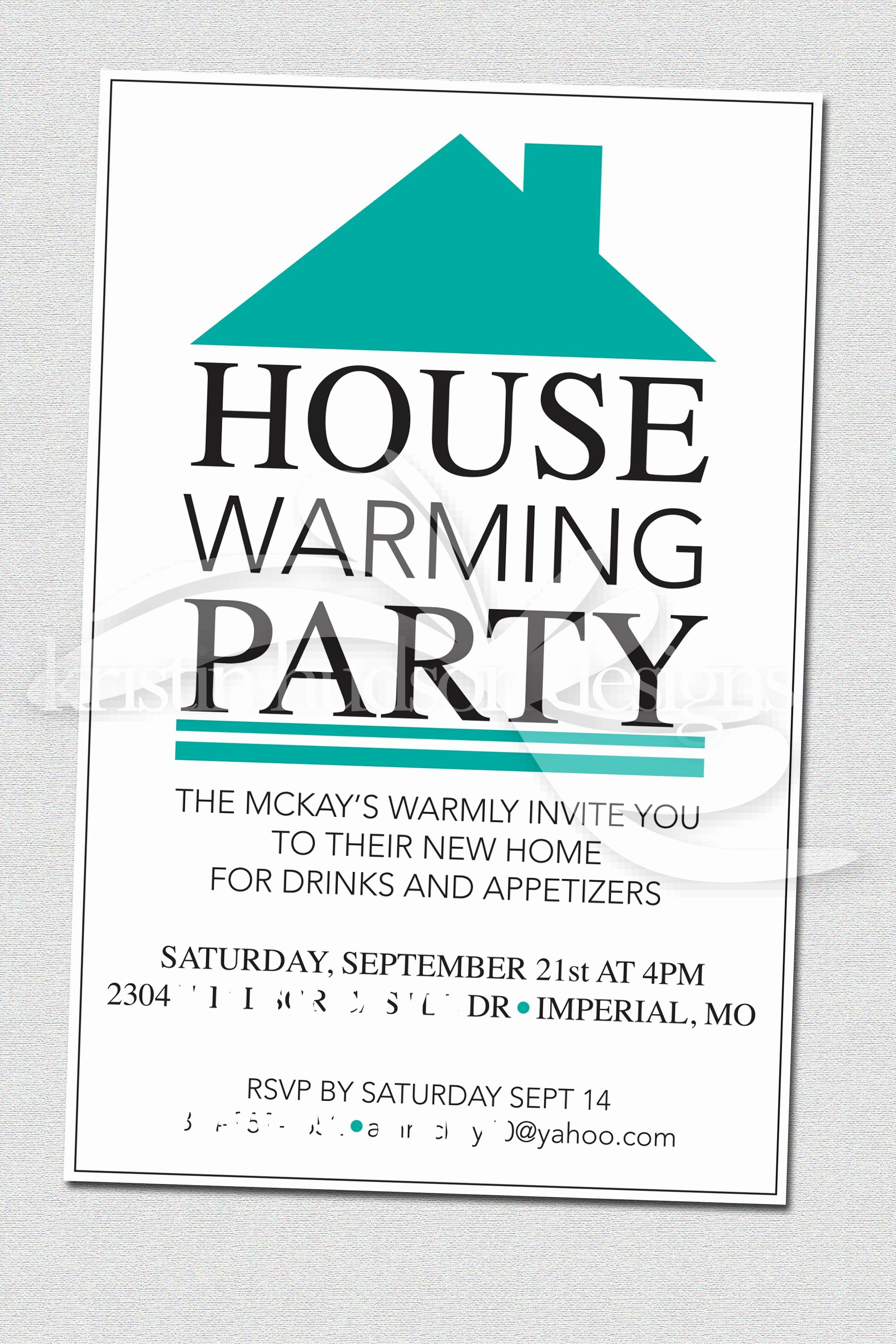 House Party Invitation Template Unique House Warming Party Invite