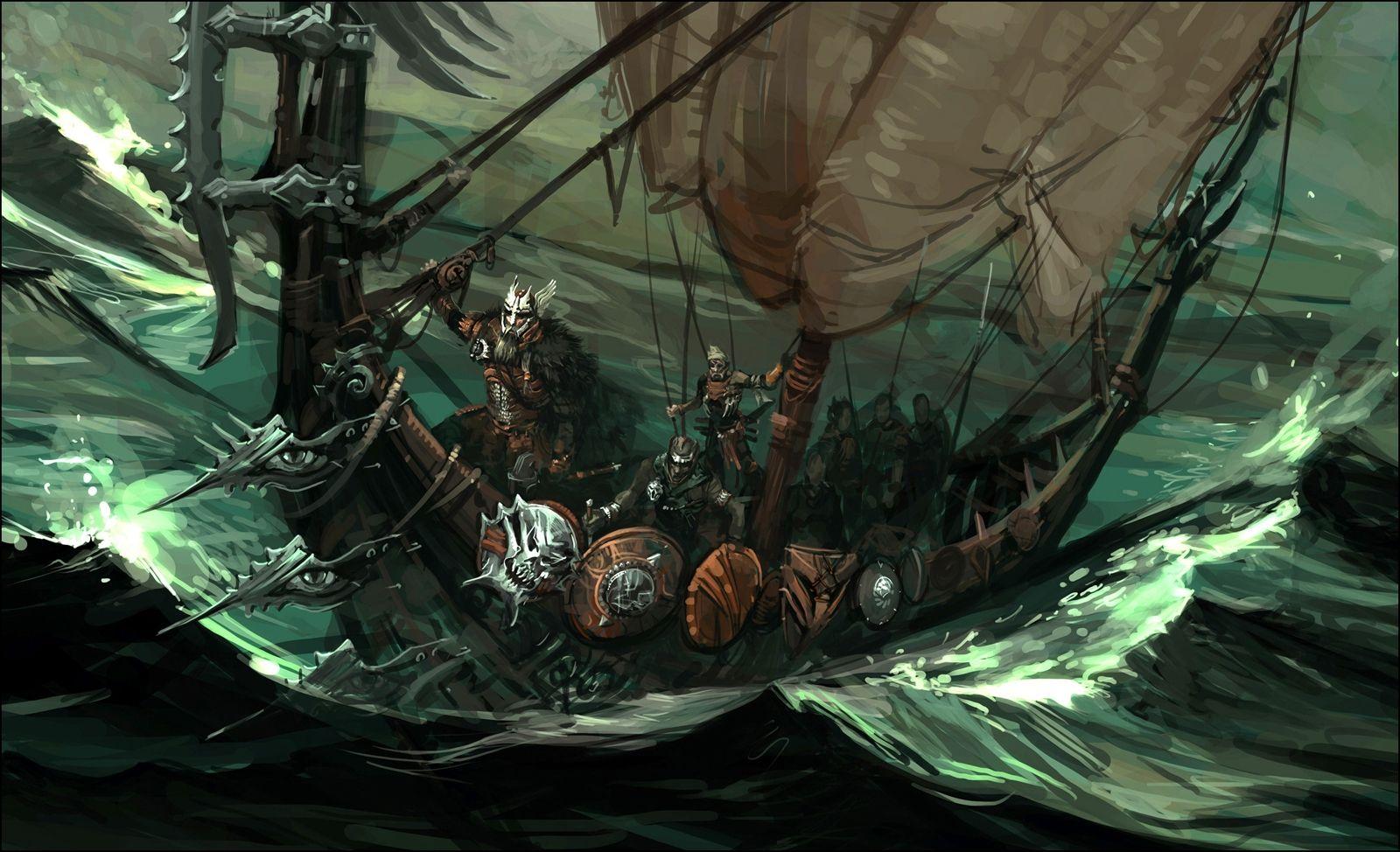 Norse Viking Warrior Art