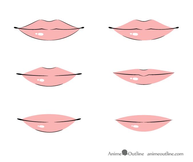 How To Draw Anime Lips Tutorial Animeoutline Anime Lips Anime Mouth Drawing Anime Nose