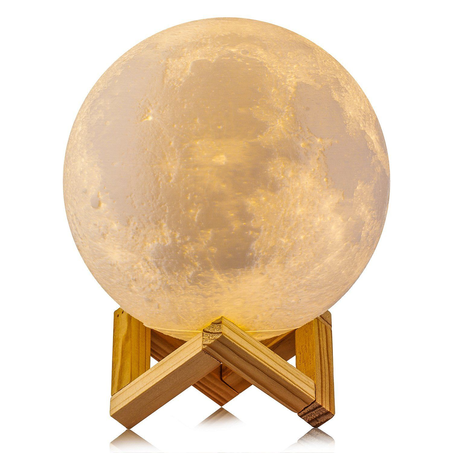 Tsv Night Light 3d Printing Moon Lamp Rechargeable Lunar Night Light Dimmable Touch Control Brightness Two T Baby Night Light Moon Light Lamp Night Light Lamp