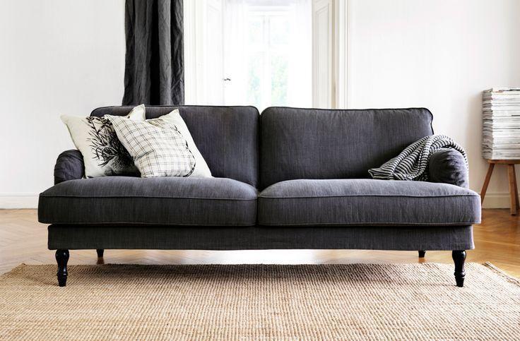 IKEA Stocksund Bench SLIPCOVER Nolhaga Dark Gray Long Ottoman COVER Grey