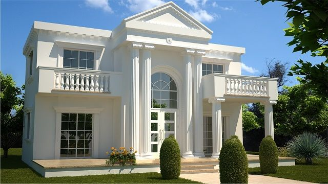 Dream Homes Roman White House North Cyprus Google Search House Balcony Design Beautiful House Plans Classic House Exterior