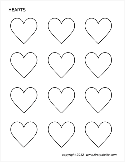 It is an image of Printable Heart Template in long