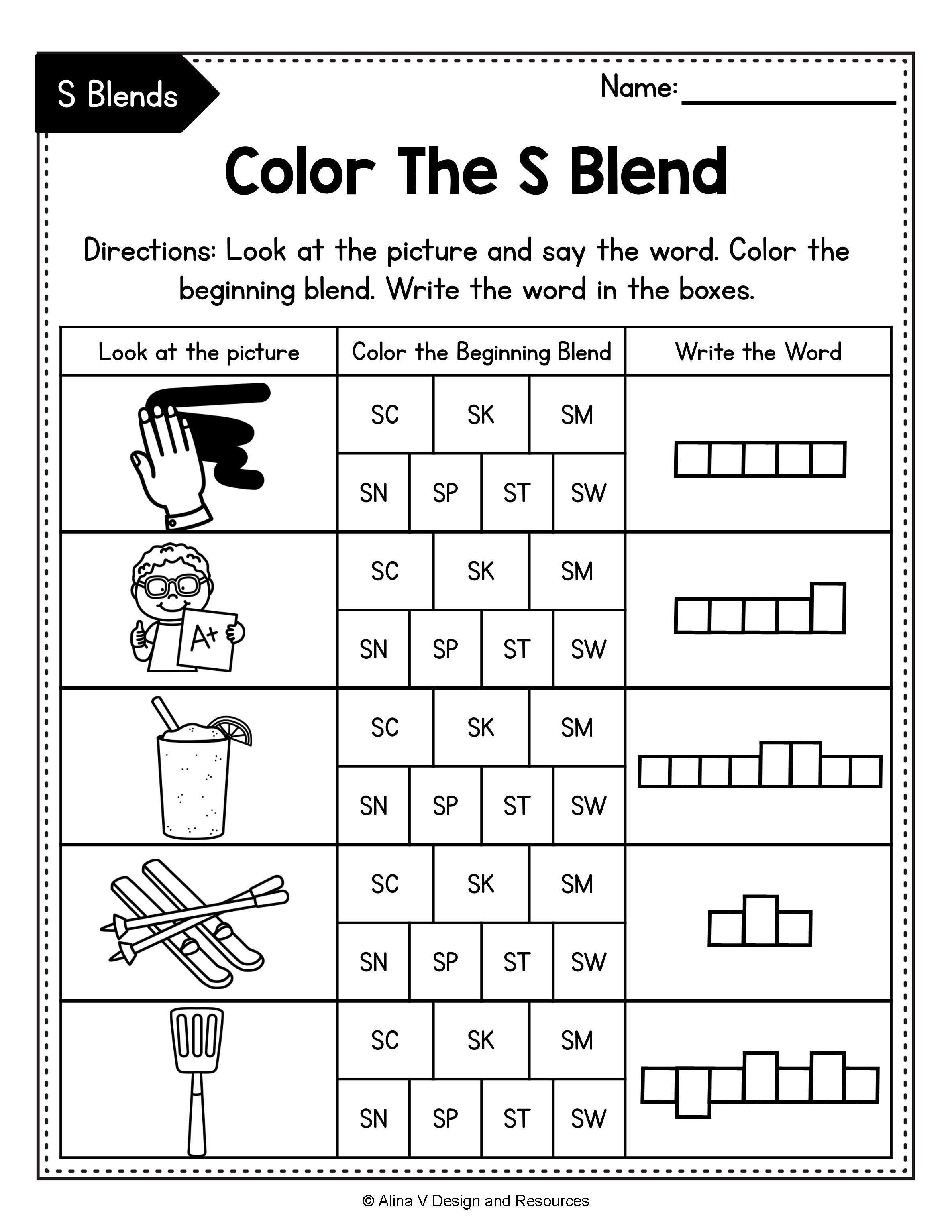 Beginning Blends Worksheets BUNDLE - consonant blends   Blends worksheets [ 3069 x 2371 Pixel ]