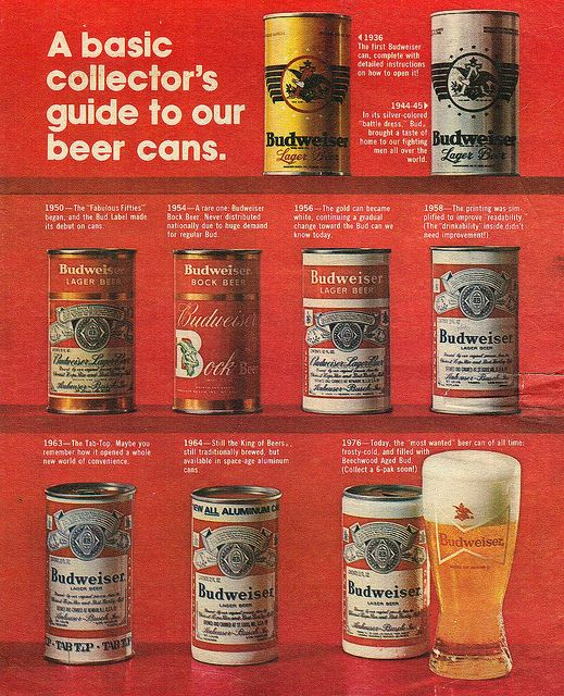 f9ddd855e2 Vintage Ad #1,993: A Short History of Budweiser Cans by jbcurio, via Flickr