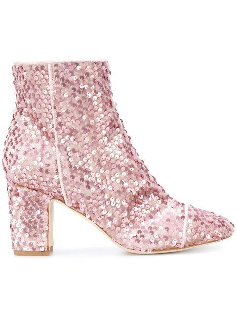Polly Plume Sequin Embellished Boots
