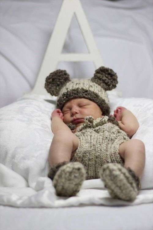 Baby Bear Outfit Bear Baby Beanie Newborn Bear Hat Knit Bear Hat ... 78f5026cd2e