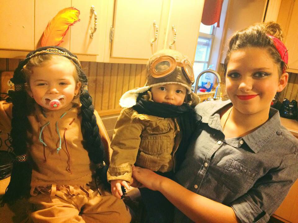 My historical women Rosie The Riveter, Amelia Earhart, and